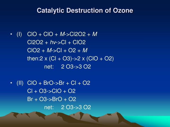 Catalytic Destruction of Ozone