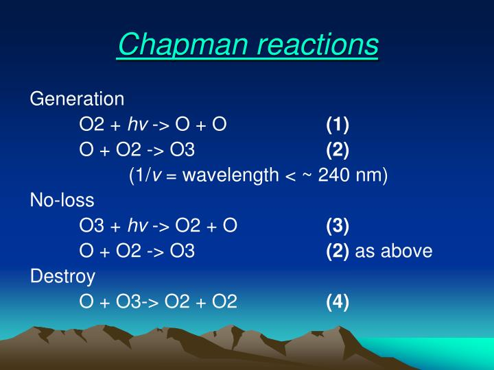Chapman reactions