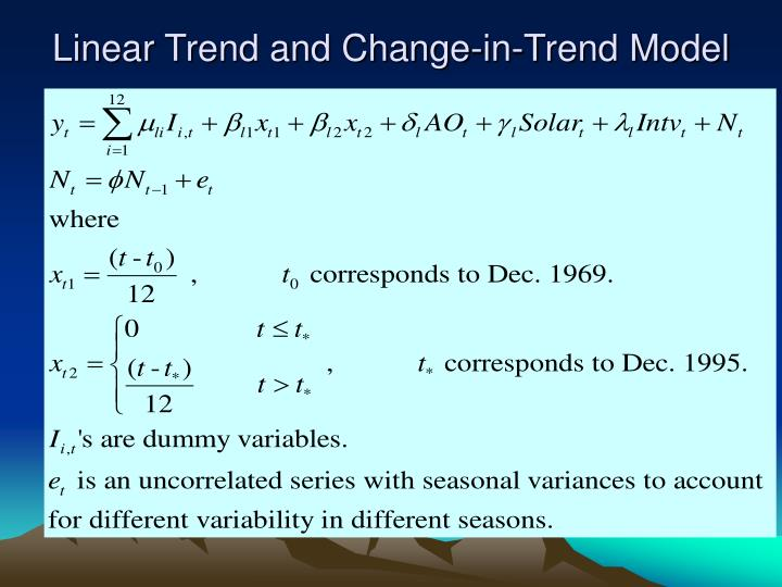 Linear Trend and Change-in-Trend Model