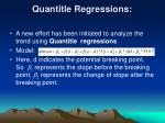 quantitle regressions
