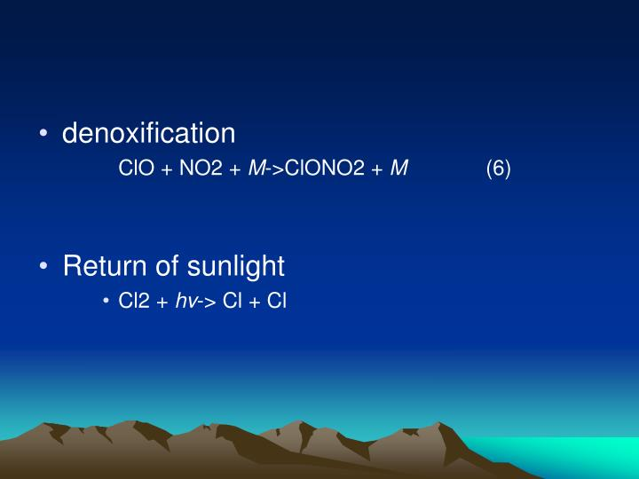 denoxification