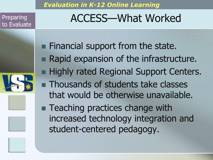 ACCESS—What Worked