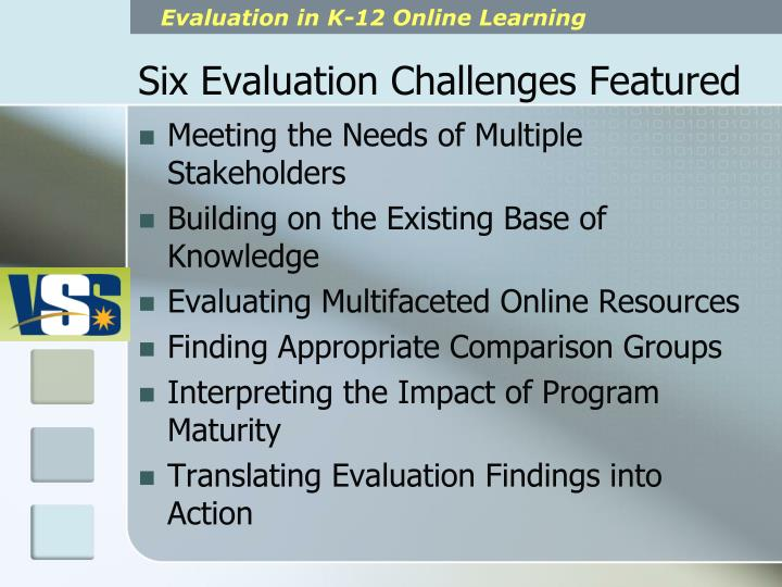 Six Evaluation Challenges Featured