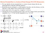 electric potential due to a system of point charges ws 4 35 homework