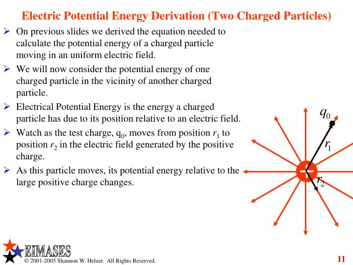 Electric Potential Energy Derivation (Two Charged Particles)