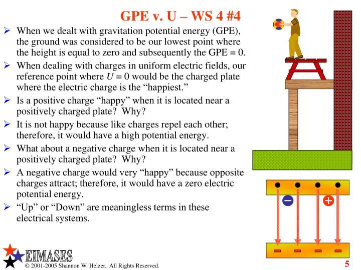 GPE v. U – WS 4 #4