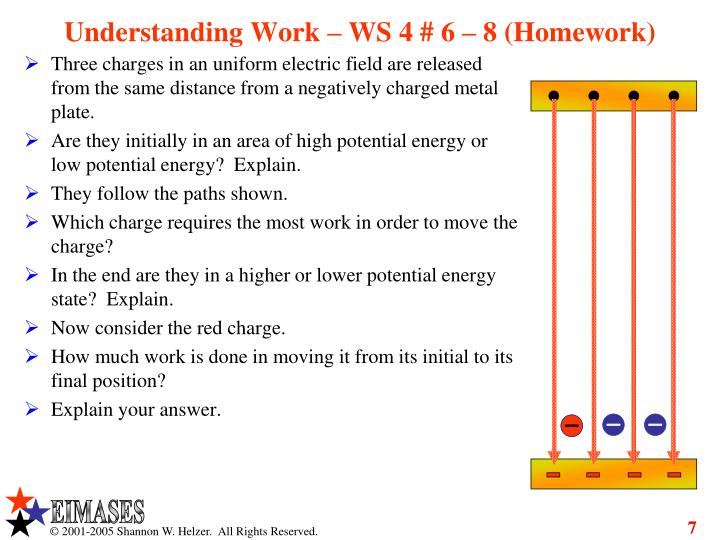 Understanding Work – WS 4 # 6 – 8 (Homework)