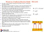 work in a uniform electric field ws 4 3