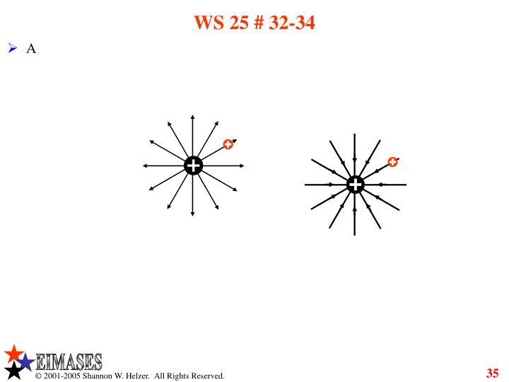 WS 25 # 32-34
