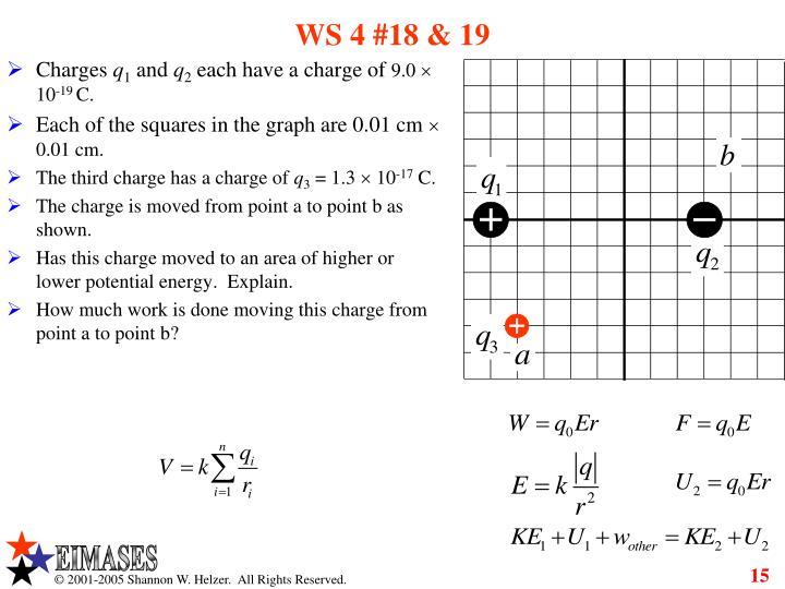 WS 4 #18 & 19