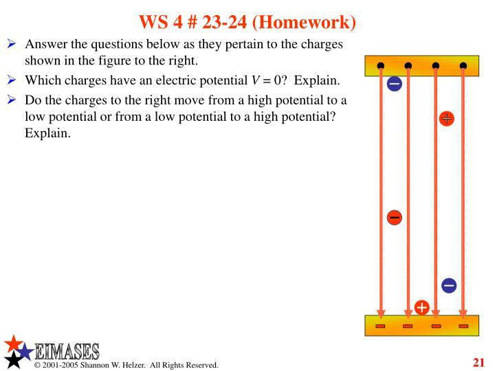 WS 4 # 23-24 (Homework)