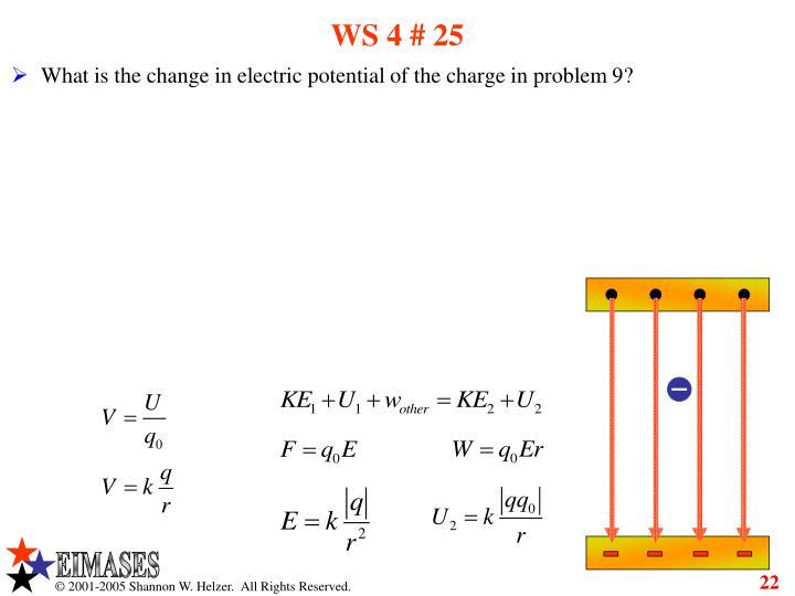 WS 4 # 25