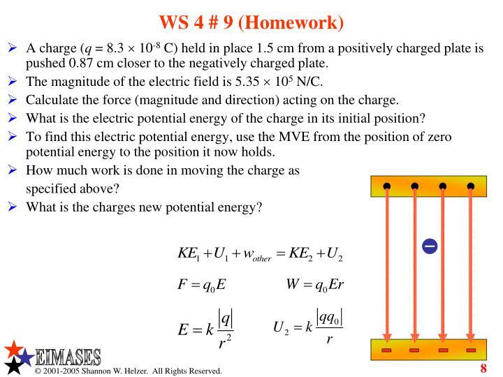 WS 4 # 9 (Homework)
