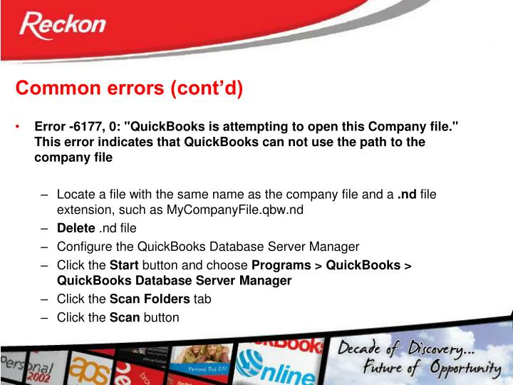 Common errors (cont'd)