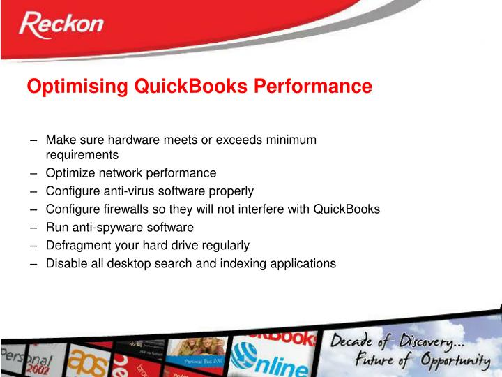 Optimising QuickBooks Performance