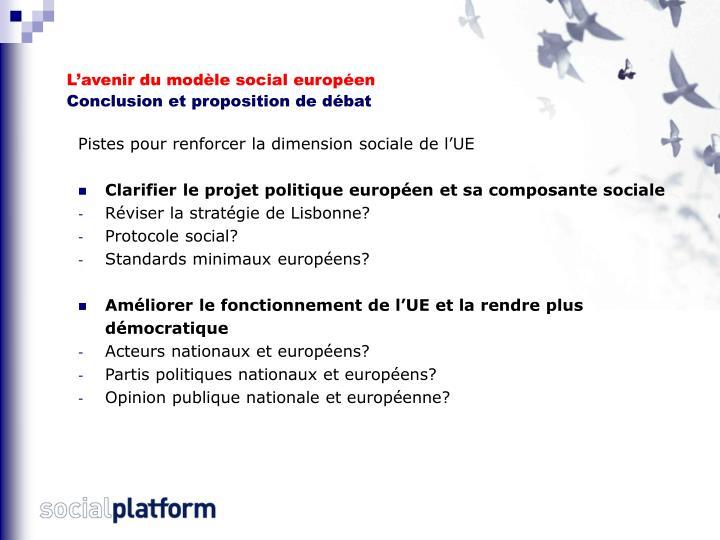 L'avenir du modèle social européen