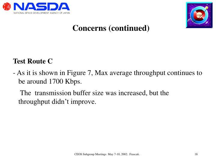 Concerns (continued)