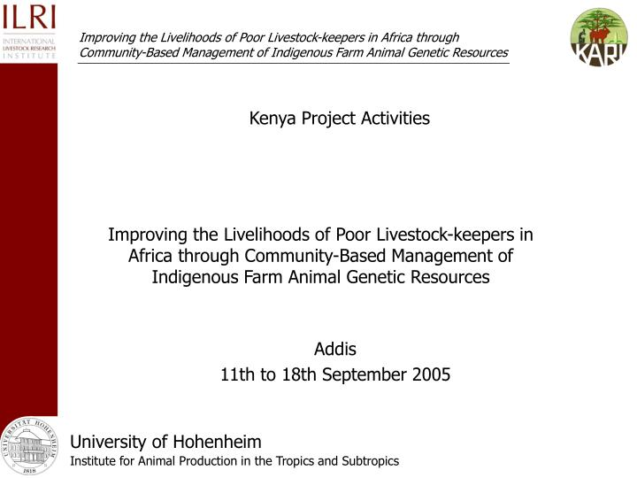 Kenya project activities