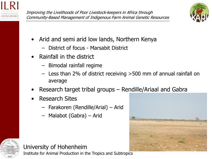 Arid and semi arid low lands, Northern Kenya