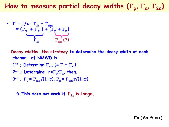 How to measure partial decay widths (