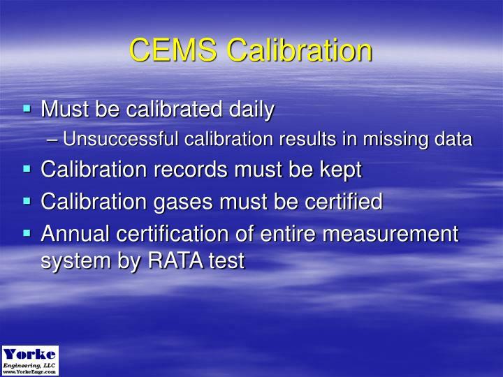 CEMS Calibration