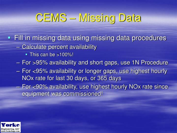 CEMS – Missing Data