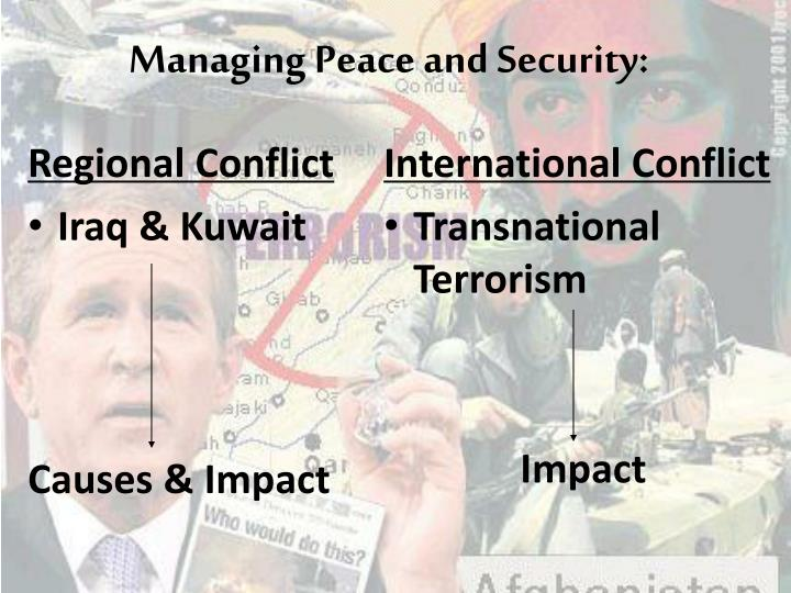 Managing Peace and Security: