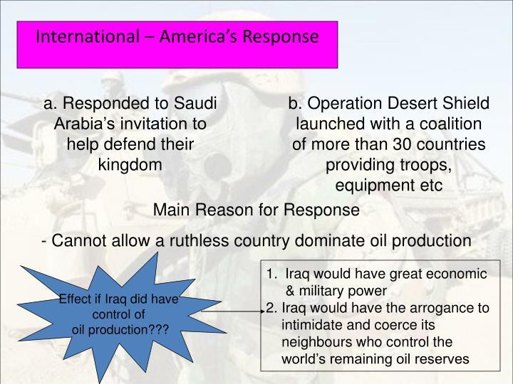 International – America's Response