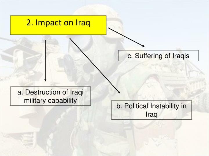 2. Impact on Iraq