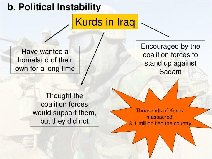 b. Political Instability