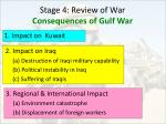 stage 4 review of war consequences of gulf war