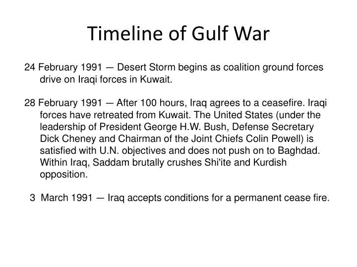 Timeline of Gulf War