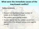 what were the immediate causes of the iraq kuwait conflict2