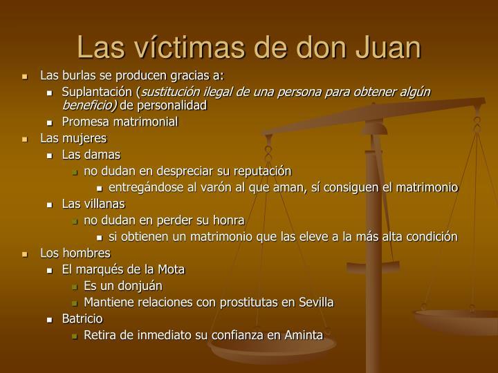 Las víctimas de don Juan