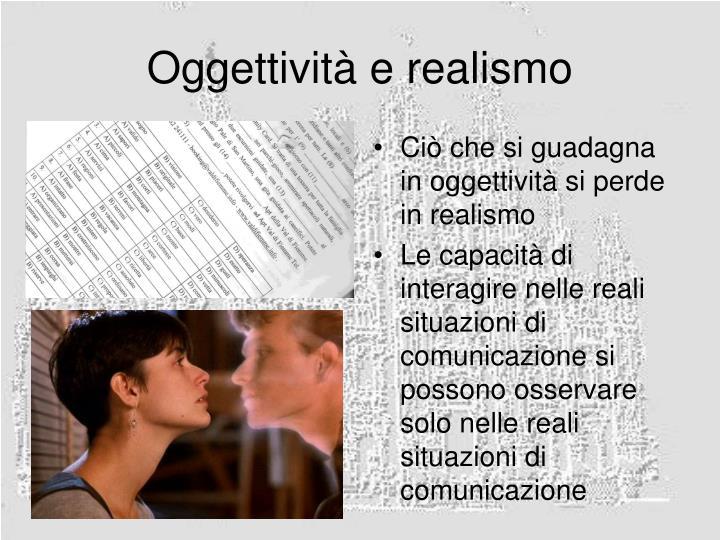 Oggettività e realismo
