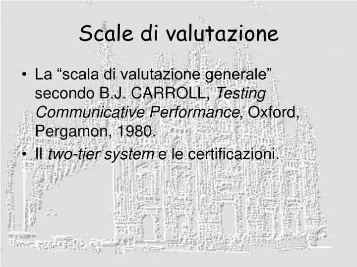 Scale di valutazione