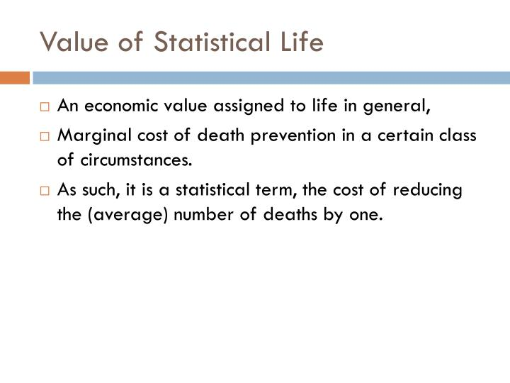 Value of Statistical Life