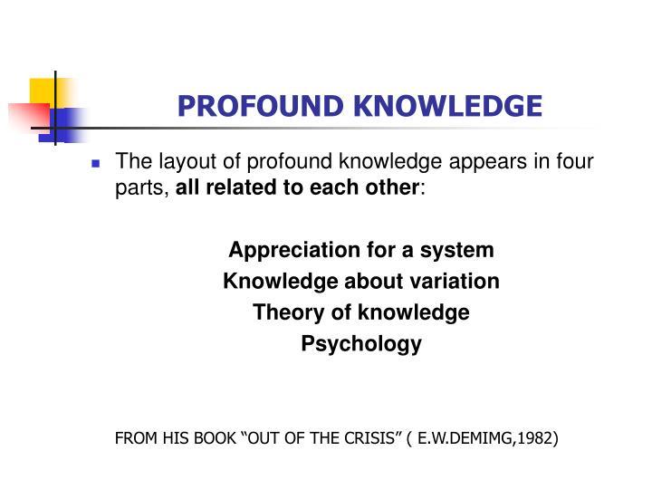PROFOUND KNOWLEDGE