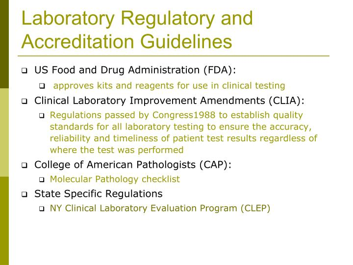 regulatory and accreditation the effects on