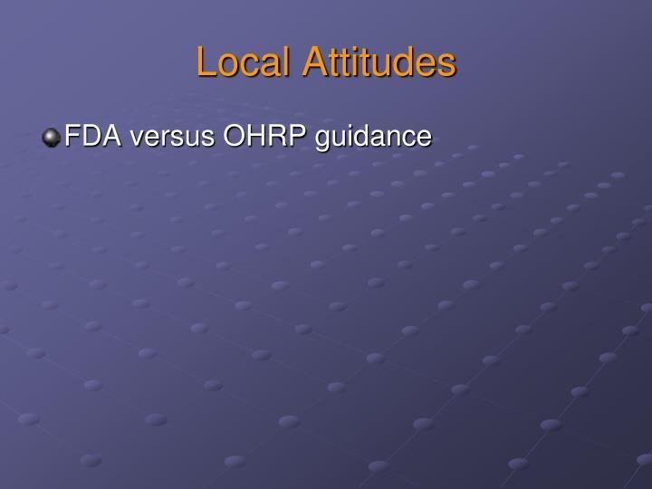 Local Attitudes