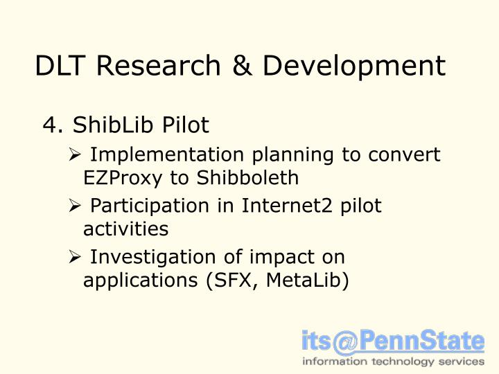 DLT Research & Development