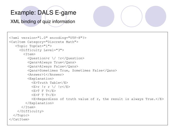 Example: DALS E-game