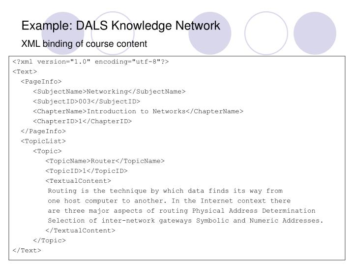 Example: DALS Knowledge Network
