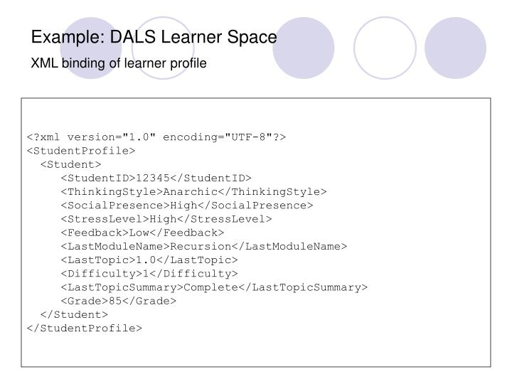 Example: DALS Learner Space