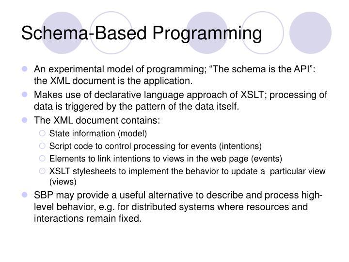 Schema-Based Programming