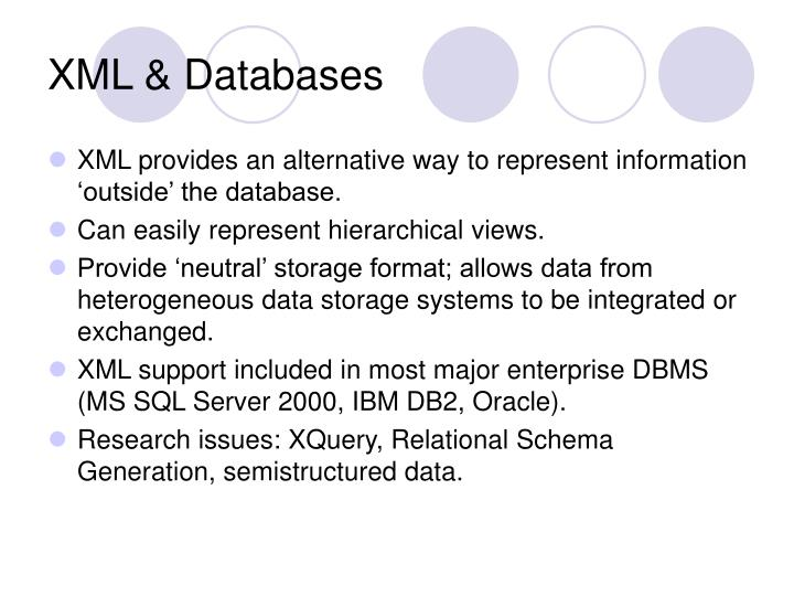 XML & Databases