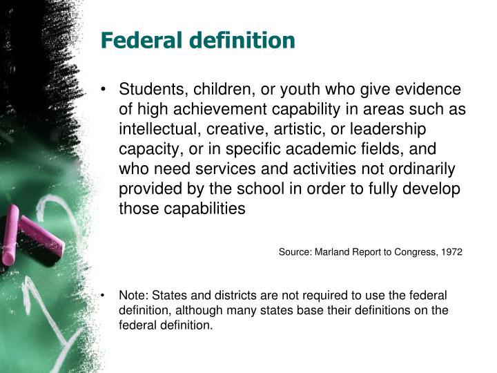 Federal definition