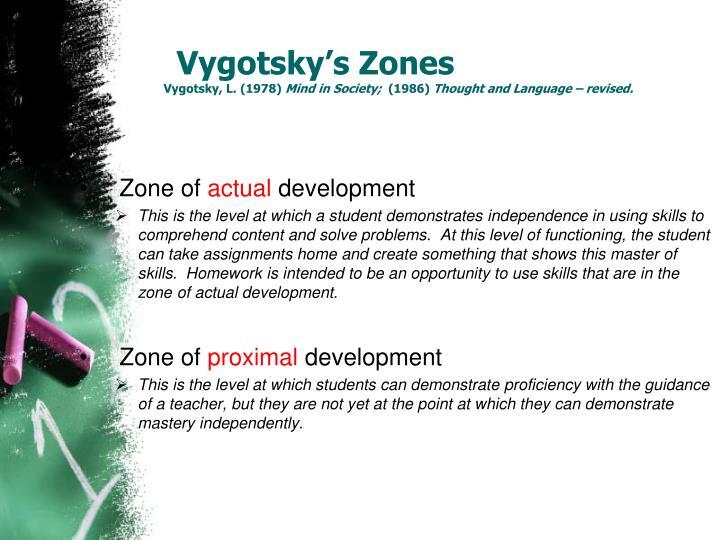 Vygotsky's Zones