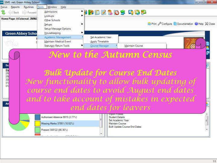 New to the Autumn Census