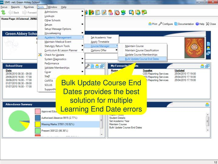 Bulk Update Course End Dates provides the best solution for multiple Learning End Date errors